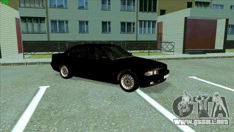 BMW 730i para GTA San Andreas left