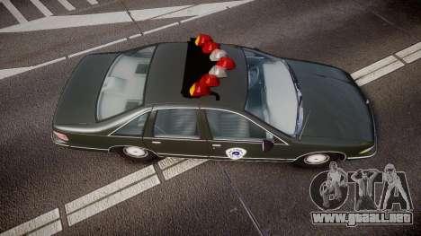 Chevrolet Caprice 1993 Detroit Police para GTA 4 visión correcta