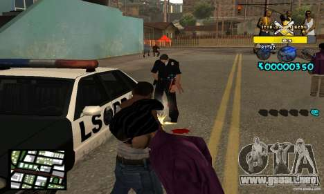 Tawer Getto HUD para GTA San Andreas tercera pantalla