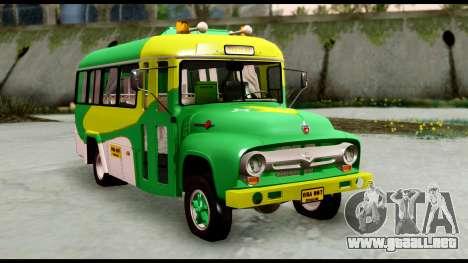 Ford Bus 1956 para la visión correcta GTA San Andreas