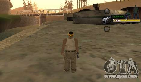C-HUD TaweR Green para GTA San Andreas tercera pantalla