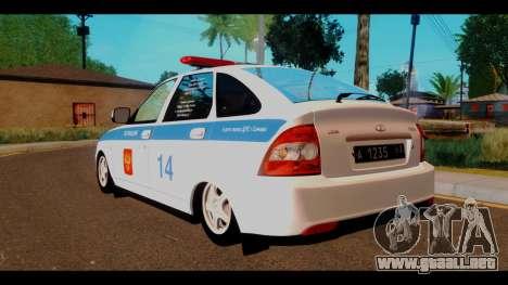 VAZ 2172 de la Policía para GTA San Andreas left