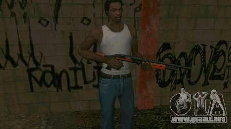 Orange Shotgun para GTA San Andreas quinta pantalla
