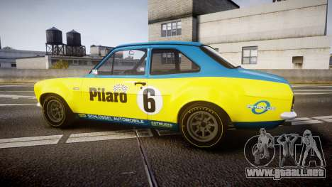 Ford Escort RS1600 PJ6 para GTA 4 left