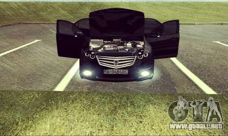Honda Accord Type S 2008 LT para la visión correcta GTA San Andreas