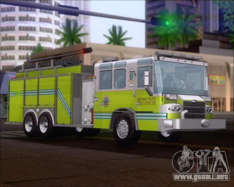 Pierce Quantum Miami Dade FD Tanker 6 para GTA San Andreas