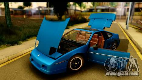 Pontiac Fiero GT G97 1985 HQLM para GTA San Andreas vista hacia atrás