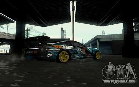 Toyota Supra Gorilla Energy GT-Shop para la visión correcta GTA San Andreas