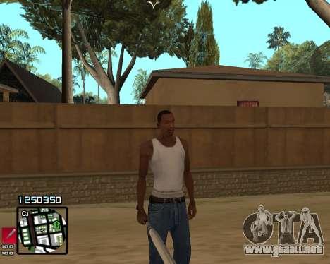 C-HUD Compact para GTA San Andreas tercera pantalla