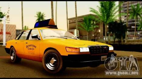GTA 4 Vapid Stanier Downtown Cab para GTA San Andreas left