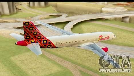 Airbus A320 Batik Air para GTA San Andreas left