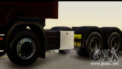 Scania P340 para GTA San Andreas vista hacia atrás