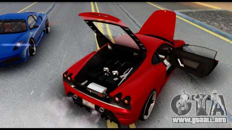 Ferrari F430 Scuderia para vista lateral GTA San Andreas