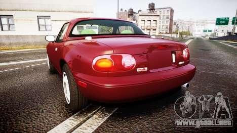 Mazda MX-5 Miata NA 1994 [EPM] para GTA 4 Vista posterior izquierda
