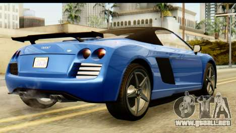 GTA 5 Obey 9F Cabrio para GTA San Andreas left