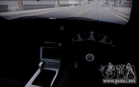 Nissan Skyline GT-R V Spec II 2002 para visión interna GTA San Andreas