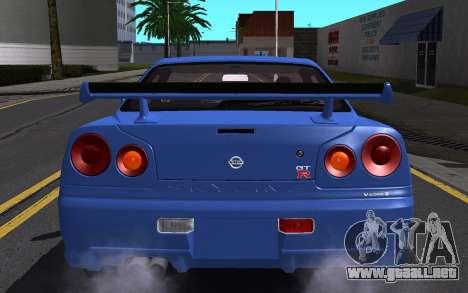 Nissan Skyline GT-R V Spec II 2002 para GTA San Andreas interior