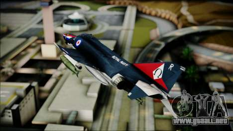 F4 Royal Air Force para GTA San Andreas vista posterior izquierda