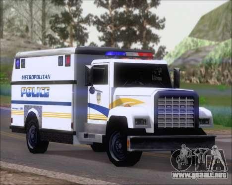 Enforcer Metropolitan Police para GTA San Andreas left