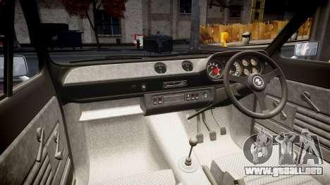 Ford Escort RS1600 PJ18 para GTA 4 vista interior