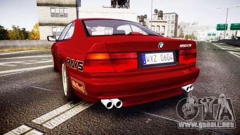 BMW E31 850CSi 1995 [EPM] Castrol Red para GTA 4 Vista posterior izquierda