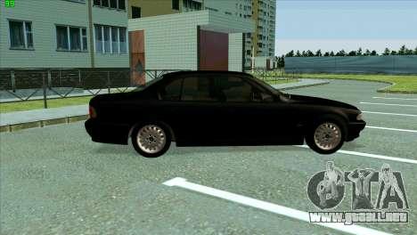 BMW 730i para GTA San Andreas vista hacia atrás