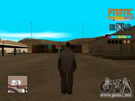 C-HUD Fnatic para GTA San Andreas tercera pantalla