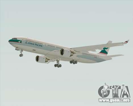 Airbus A330-300 Cathay Pacific para GTA San Andreas vista posterior izquierda