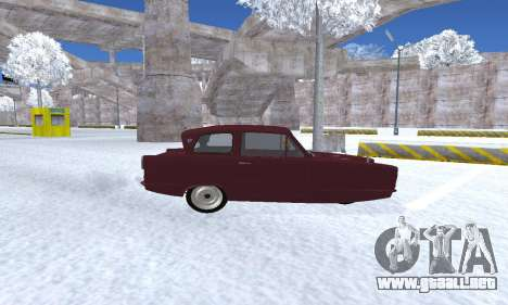 Reliant Regal Sedan para GTA San Andreas vista hacia atrás