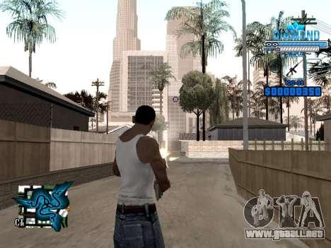C-HUD Blek-Pro Diamond para GTA San Andreas segunda pantalla
