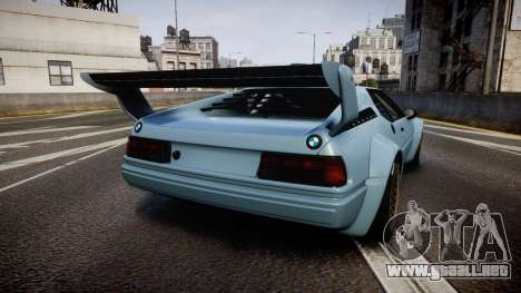BMW M1 [EPM] para GTA 4 Vista posterior izquierda