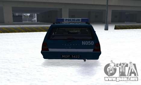 Daewoo-FSO Polonez Kombi 1.6 GSI Police 2000 para la visión correcta GTA San Andreas
