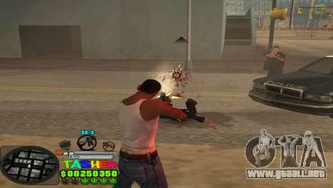C-HUD Tasher para GTA San Andreas sucesivamente de pantalla