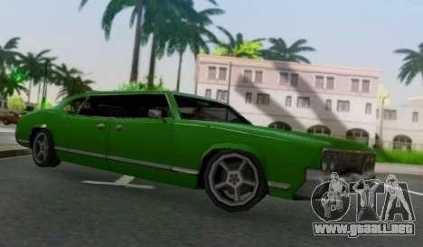 Sabre Limousine para GTA San Andreas vista posterior izquierda