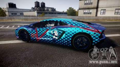Lamborghini Aventador 2012 [EPM] Miku 3 para GTA 4 left