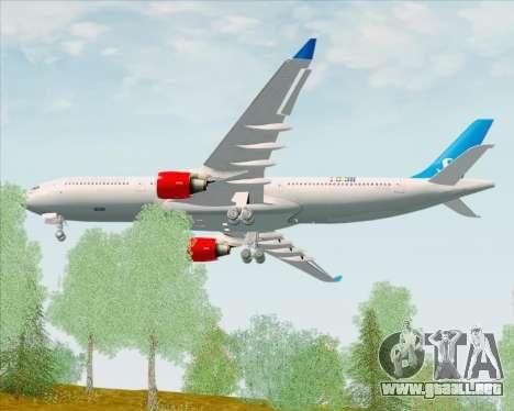 Airbus A330-300 Scandinavian Airlines para la visión correcta GTA San Andreas