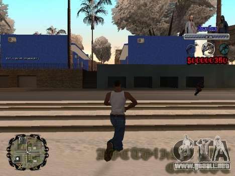 C-HUD Bomj Gang para GTA San Andreas tercera pantalla