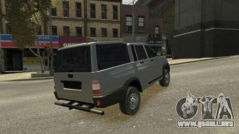 UAZ Patriot Pickup v.2.0 para GTA 4 vista lateral