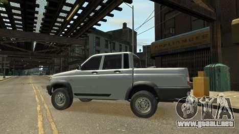 UAZ Patriot Pickup v.2.0 para GTA 4 visión correcta