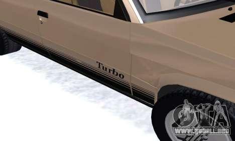 Renault 11 Turbo Phase I 1984 para visión interna GTA San Andreas