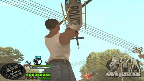 C-HUD Tasher para GTA San Andreas segunda pantalla