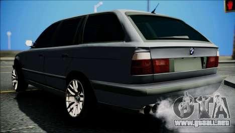 BMW M5 E34 Wagon para GTA San Andreas vista posterior izquierda