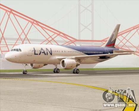 Airbus A320-200 LAN Argentina para GTA San Andreas left
