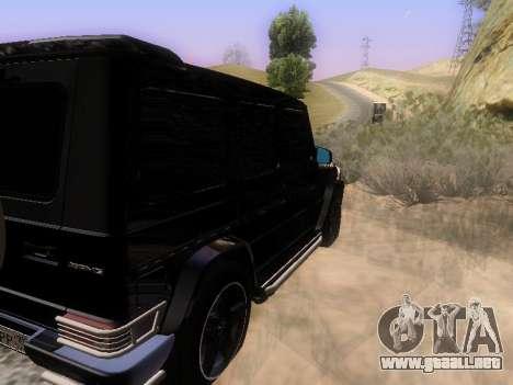 Mercedes-Benz G55 AMG para GTA San Andreas vista hacia atrás