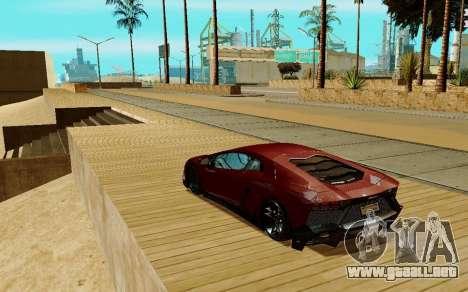 Lamborghini Aventador para la visión correcta GTA San Andreas