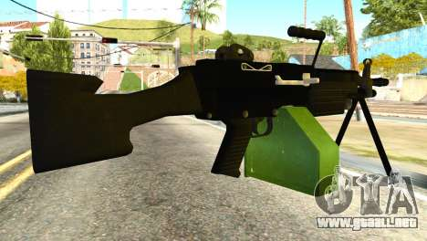 M249 Machine Gun para GTA San Andreas segunda pantalla