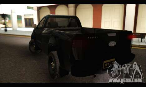 Ford Ranger Cabina Simple 2013 para GTA San Andreas vista posterior izquierda