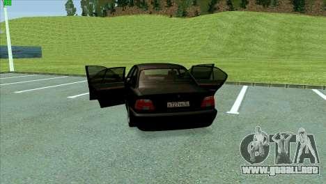 BMW 730i para GTA San Andreas interior