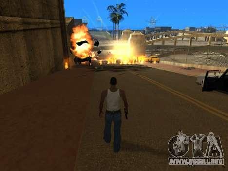 Realistic Effects v3.4 by Eazy para GTA San Andreas sucesivamente de pantalla