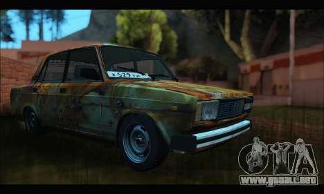VAZ 2107 Rusty para la visión correcta GTA San Andreas